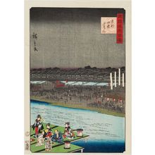 Utagawa Hiroshige II: Enjoying the Cool of the Evening at Shijô in Kyoto (Kyôto Shijô yûsuzumi), from the series One Hundred Famous Views in the Various Provinces (Shokoku meisho hyakkei) - Museum of Fine Arts