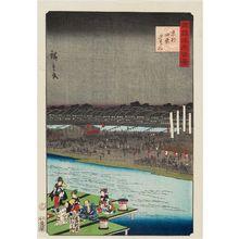 二歌川広重: Enjoying the Cool of the Evening at Shijô in Kyoto (Kyôto Shijô yûsuzumi), from the series One Hundred Famous Views in the Various Provinces (Shokoku meisho hyakkei) - ボストン美術館
