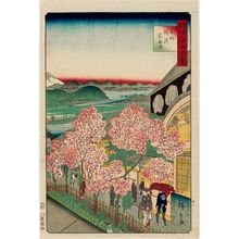 二歌川広重: The Gankirô at Yokohama in Musashi Province (Bushû Yokohama Gankirô), from the series One Hundred Famous Views in the Various Provinces (Shokoku meisho hyakkei) - ボストン美術館