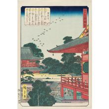 Utagawa Hiroshige II: Sensô-ji Temple (Sensô-ji), from the series Views of Famous Places in Edo (Edo meishô zue) - Museum of Fine Arts