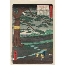 二歌川広重: The Pine Tree of the Imperial Procession (Miyuki no matsu), from the series Views of Famous Places in Edo (Edo meishô zue) - ボストン美術館