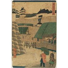 Utagawa Hiroshige III: Inside the Sakurada Gate (Sakurada gomon uchi), from the series Thirty-six Views of Tokyo (Tôkyô sanjûrokkei) - Museum of Fine Arts