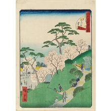 Utagawa Hiroshige II: No. 12, Higurashi Village (Higurashi no sato), from the series Forty-Eight Famous Views of Edo (Edo meisho yonjûhakkei) - Museum of Fine Arts