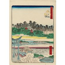 Utagawa Hiroshige II: No. 8, Yushima Tenjin Shrine (Yushima Tenjin), from the series Forty-Eight Famous Views of Edo (Edo meisho yonjûhakkei) - Museum of Fine Arts