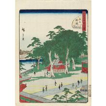 Utagawa Hiroshige II: No. 43, Sannô Gongen Shrine, from the series Forty-Eight Famous Views of Edo (Edo meisho yonjûhakkei) - Museum of Fine Arts