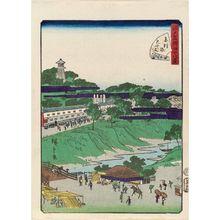 二歌川広重: No. 39, Suiten Shrine at Akabane (Akabane Suitengû), from the series Forty-Eight Famous Views of Edo (Edo meisho yonjûhakkei) - ボストン美術館