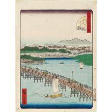 二歌川広重: No. 29, Eitai Bridge (Eitai-bashi), from the series Forty-Eight Famous Views of Edo (Edo meisho yonjûhakkei) - ボストン美術館