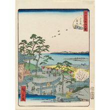 Utagawa Hiroshige II: No. 27, Benten Shrine at Susaki (Susaki Benten), from the series Forty-Eight Famous Views of Edo (Edo meisho yonjûhakkei) - Museum of Fine Arts