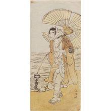 勝川春章: Actor Nakamura Nakazo as Dainichi - ボストン美術館