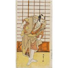 勝川春章: Actor Ôtani Hiroji III as Onio - ボストン美術館