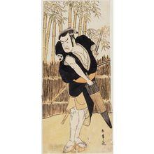 勝川春章: Actor Ôtani Tomoemon - ボストン美術館