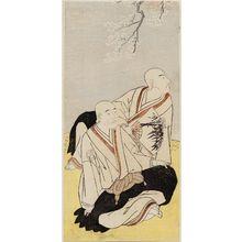 Katsukawa Shunsho: Actors Ichikawa Monnosuke II as Renseibô and Sawamura Sôjûrô III as Sainenbô - Museum of Fine Arts