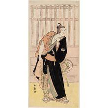 勝川春章: Actor Ichikawa Danjûrô V as Sukeroku - ボストン美術館