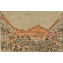 Utagawa Toyoharu: Perspective Picture of a Nô Play - Museum of Fine Arts