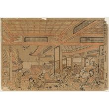 Utagawa Toyoharu: Perspective Picture of the Seven Gods of Good Fortune Enjoying Themselves (Uki-e Shichifukujin kotobuki suehiro asobi no zu) - Museum of Fine Arts