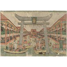Utagawa Toyoharu: Itsukushima Shrine - Museum of Fine Arts