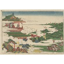 Utagawa Toyoharu: King Chou and his queen watching beacons - Museum of Fine Arts