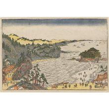 歌川豊春: The Bay of Enoshima - ボストン美術館
