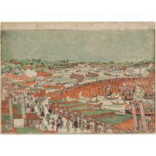 Utagawa Toyoharu: Ryogoku Bridge - Museum of Fine Arts