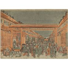 Utagawa Toyoharu: Omonguchi - Museum of Fine Arts