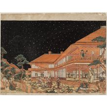 Utagawa Toyoharu: Act VII (Shichidanme), from the series Perspective Pictures of the Storehouse of Loyal Retainers (Uki-e Kanadehon Chûshingura) - Museum of Fine Arts
