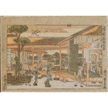 Utagawa Toyoharu: Yawata, Niken Chaya no zu - Museum of Fine Arts