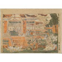 Utagawa Toyoharu: Minamoto Yorimasa and the Nue (Yorimasa no zu), from the series Ancient and Modern Heroes (Kokon yûshi-zoroe) - Museum of Fine Arts