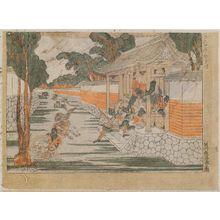 歌川豊春: Rasho-mon no zu, from the series Kokon Yushi-zoroe (Ancient and Modern Heroes) - ボストン美術館
