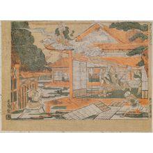 Utagawa Toyoharu: Watanabe Yakata no zu, from the series Kokon Yushi-zoroe (Ancient and Modern Heroes) - Museum of Fine Arts