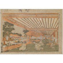 Utagawa Toyoharu: Zashiki - Museum of Fine Arts