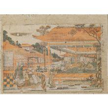 Utagawa Toyoharu: Towa Keiseki, 1(Chinese and Japanese pictures, No.1. Parody of Joruri-hime. - Museum of Fine Arts