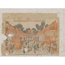 Utagawa Toyoharu: Yanaka, Kasamori no zu - Museum of Fine Arts