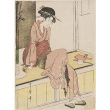Kitagawa Utamaro: Woman Sitting on Edge of Veranda - Museum of Fine Arts