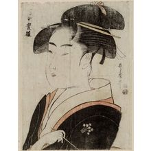喜多川歌麿: Tomimoto Toyohina, from an untitled series of famous beauties of Edo - ボストン美術館