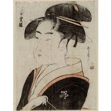 喜多川歌麿: Tomimoto Toyohina, from an untitled series of famous beauties of Edo - ボストン美術館