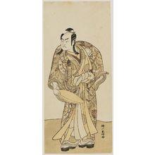 勝川春好: Actor Sakata Hangoro II holding a large sake cup - ボストン美術館
