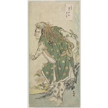 Katsukawa Shunko: Actor Nakamura Nakazo I as lion dancer - Museum of Fine Arts