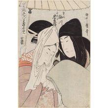 Kitagawa Utamaro: The Courtesan Umegawa and Chûbei of the Courier Firm (Keisei Umegawa, Hikyakuya Chûbei), from the series True Feelings Compared: The Founts of Love (Jitsu kurabe iro no minakami) - Museum of Fine Arts