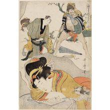 喜多川歌麿: Dream of the Young Woman, from the series Profitable Visions in Daydreams of Glory (Miru-ga-toku eiga no issui) - ボストン美術館