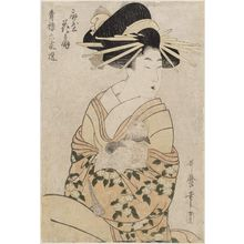 Kitagawa Utamaro: Hanaôgi of the Ôgiya, from the series Selections from Six Houses of the Yoshiwara (Seirô rokkasen) - Museum of Fine Arts