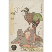 Kitagawa Utamaro: Flower Arrangement, from the series Fashionable Brocade Pictures of Various Arts (Fûryû shogei no nishiki) - Museum of Fine Arts