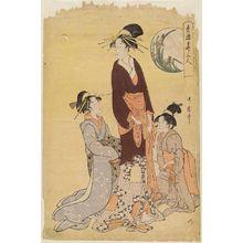 喜多川歌麿: Iris, from the series Three Beauties of the Green Houses (Seirô hana sannin) - ボストン美術館