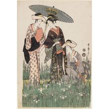 Kitagawa Utamaro: Women in Iris Garden - Museum of Fine Arts