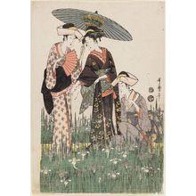 喜多川歌麿: Women in Iris Garden - ボストン美術館