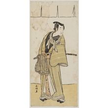 Katsukawa Shunko: Actor with cloth tied around sword - Museum of Fine Arts