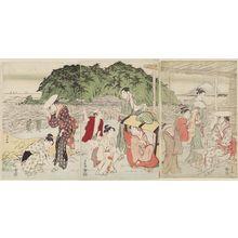 鳥居清長: A Pilgrimage to Enoshima - ボストン美術館