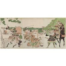 Kitao Masayoshi: The Battle of Ichinotani - Museum of Fine Arts