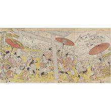 北尾政美: Minamoto Yoritomo Freeing Cranes at Yuigahama - ボストン美術館
