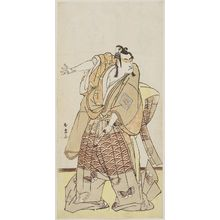 Katsukawa Shunjô: Actor holding sword and gesturing with open hand - ボストン美術館