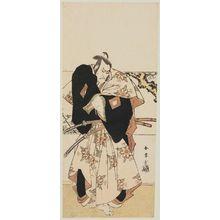 Katsukawa Shunjô: Actor Ichikawa Danjuro with swords - ボストン美術館